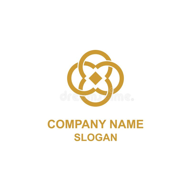 Logo elegante di iniziale della lettera di C illustrazione vettoriale