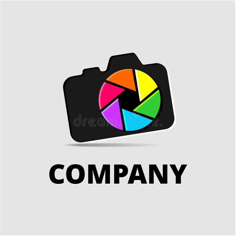 Logo element with camera. Vector logo elements for photostudio stock illustration