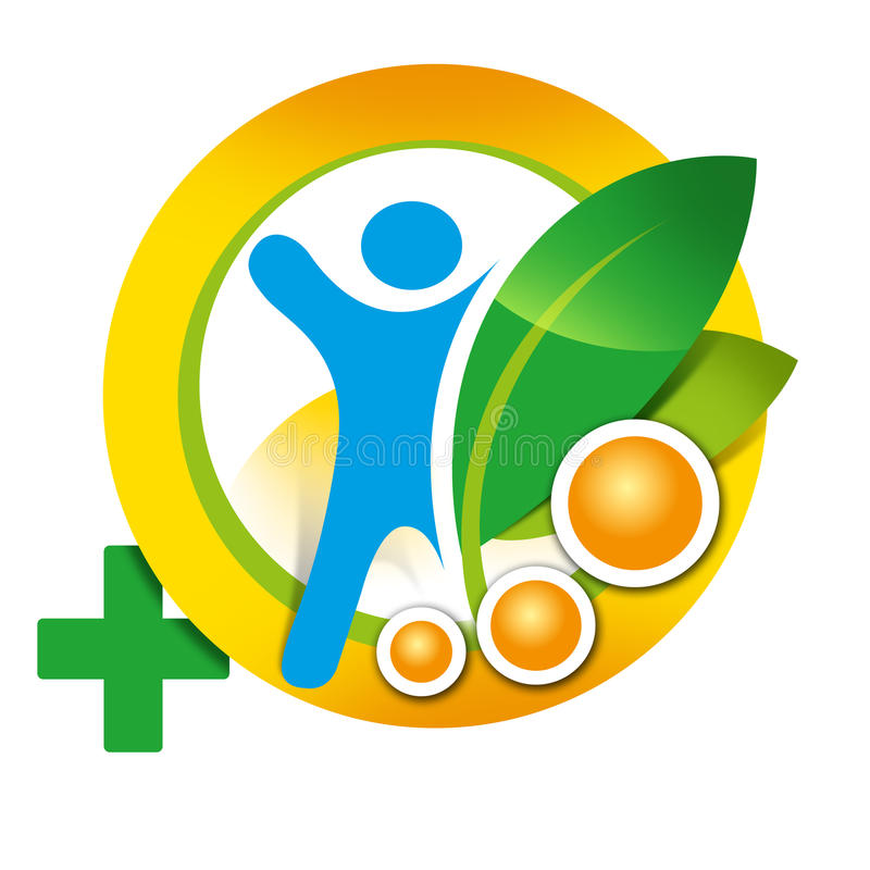 Logo element health, man, healthy lifestyle stock images