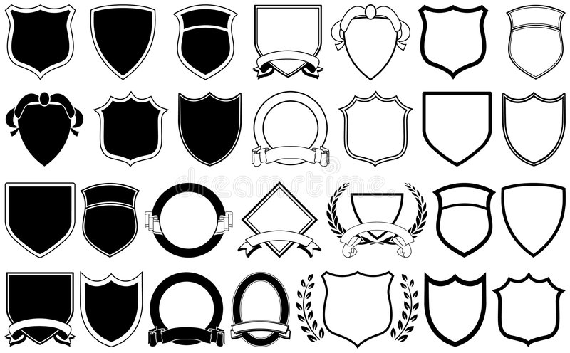 Logo Elements. Various shields and crests for logos