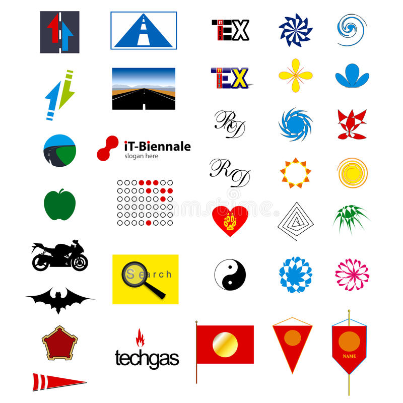 Logo elements royalty free stock photos