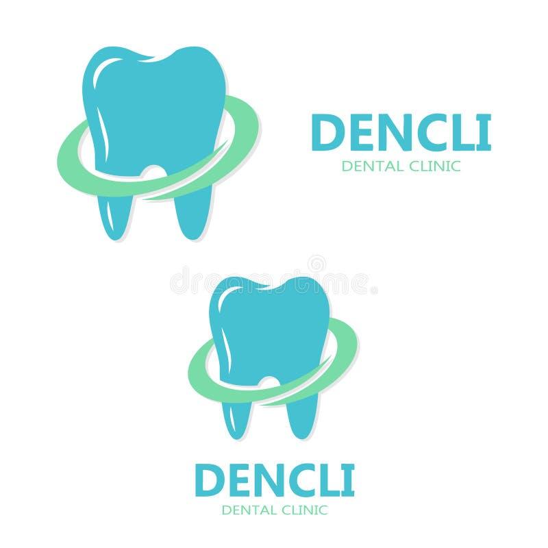 Logo eller symbol för vektor tand- stock illustrationer