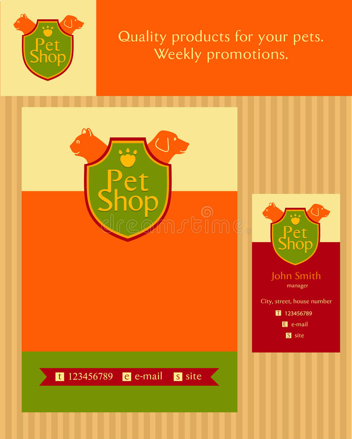 Free Logo, Emblem Store For Cats And Dogs. Editable Stock Photography - 50063262