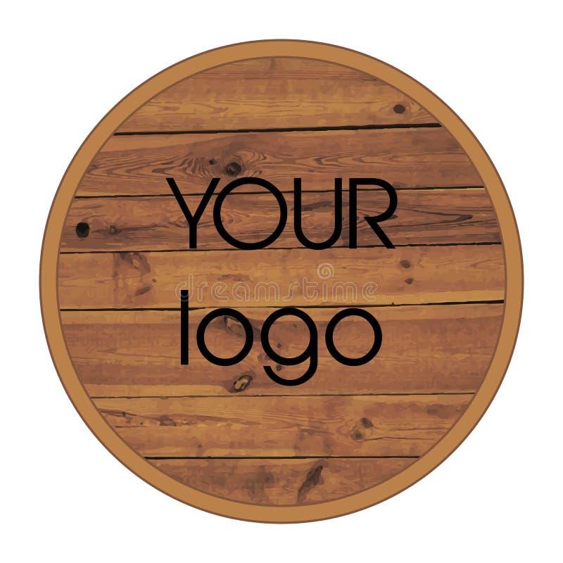 Logo en bois Illustration de vecteur photo stock