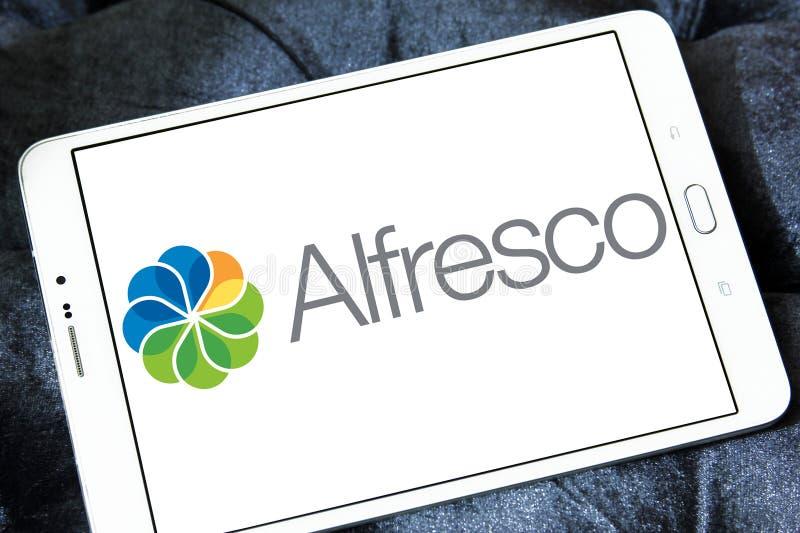 Logo en plein air de logiciel photos libres de droits