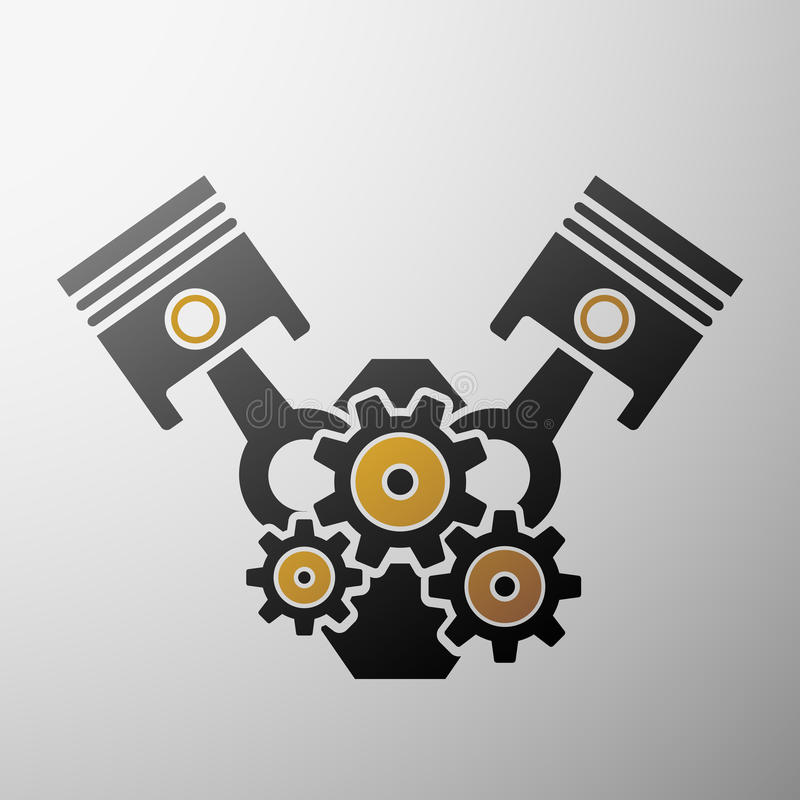 Logo engine. Stock illustration. vector illustration