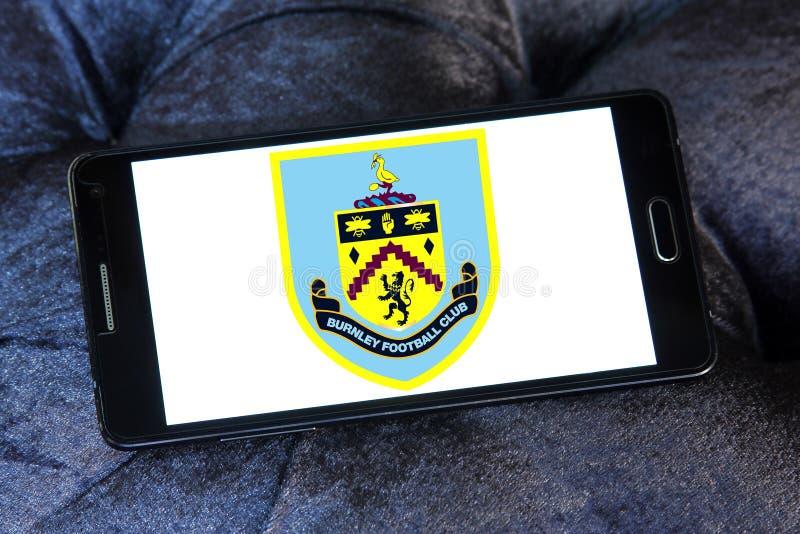 Burnley F.C. soccer club logo. Logo of english Burnley F.C. soccer club on samsung mobile royalty free stock photography