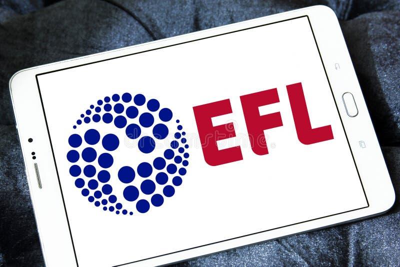 English Football League, EFL, logo. Logo of English Football League, EFL, on samsung tablet. The English Football League EFL is a league competition featuring stock photo