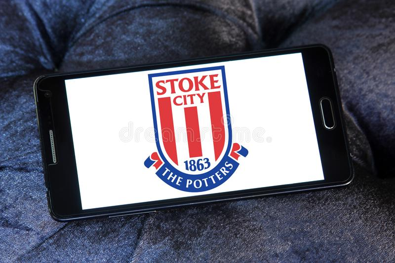 Stoke city football club logo stock images