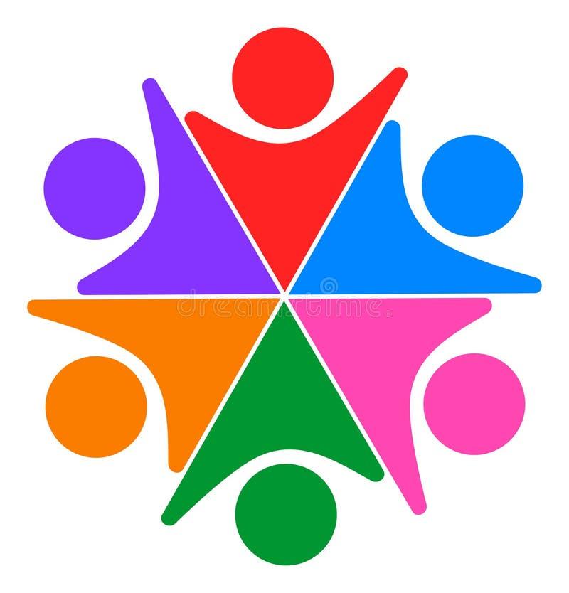 Logo ensemble relié par gens de travail d'équipe illustration libre de droits