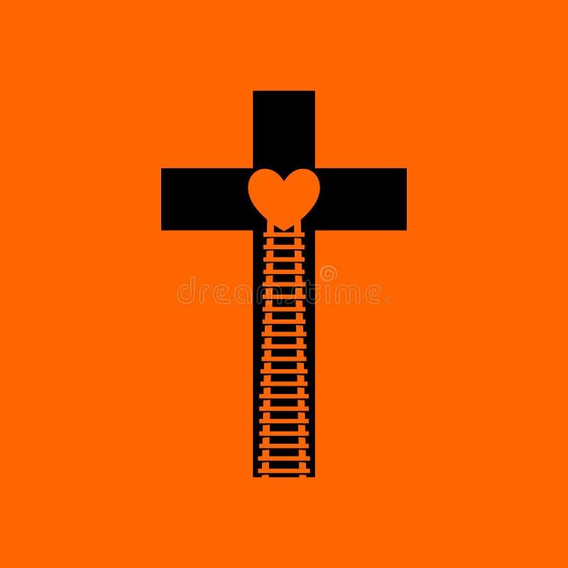 logo Escolha consequentemente o trajeto que conduz ao céu, ao amor do ` s do deus através de Jesus Christ ilustração stock