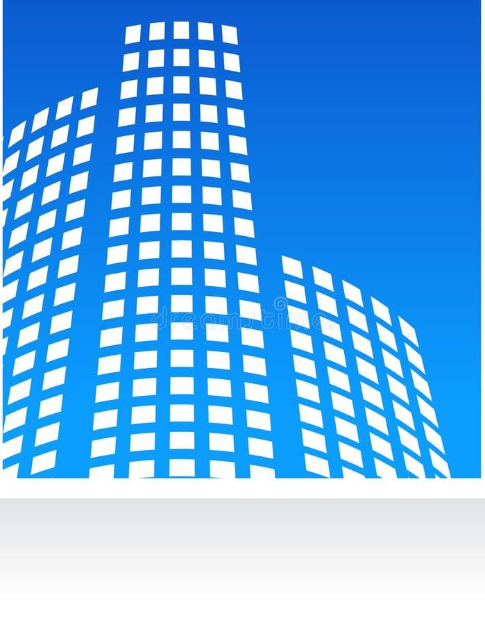 Logo et configuration d'immeubles illustration stock