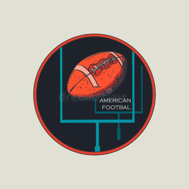 Logo et emblème de football américain illustration stock