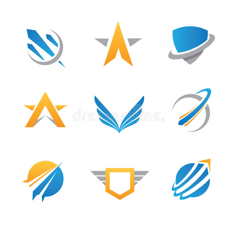 Logo et icône d'action illustration de vecteur