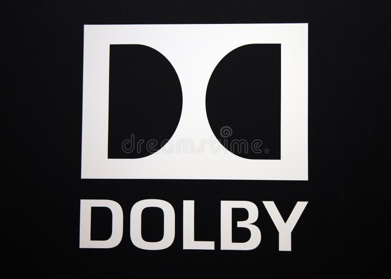 Logo et lettres dolby image stock