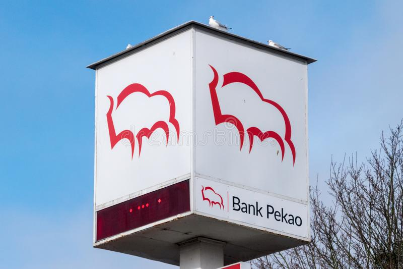 Logo et signe de banque Pekao photos stock