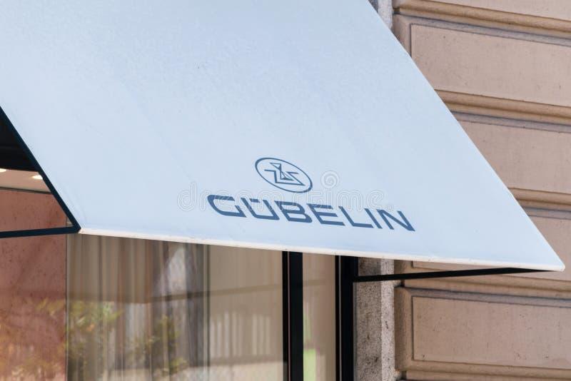 Logo et signe de Gubelin photo stock