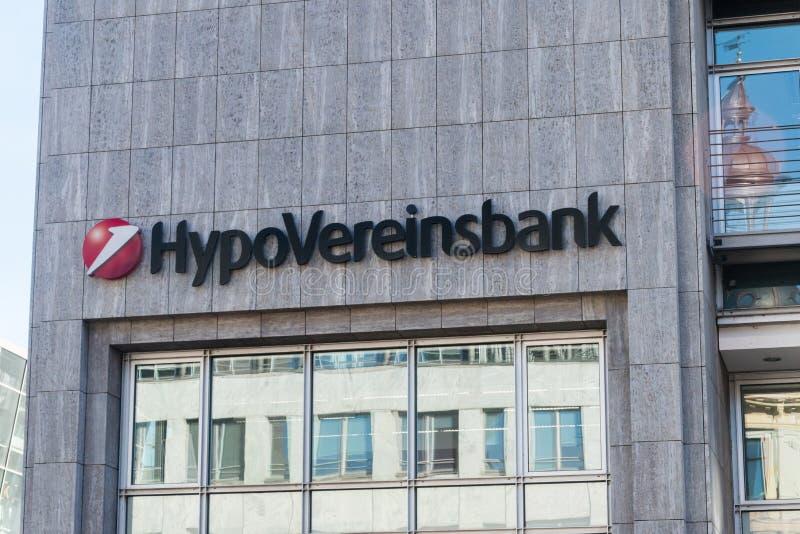 Logo et signe HypoVereinsbank cinquième plus grand des institutions financières allemandes images stock