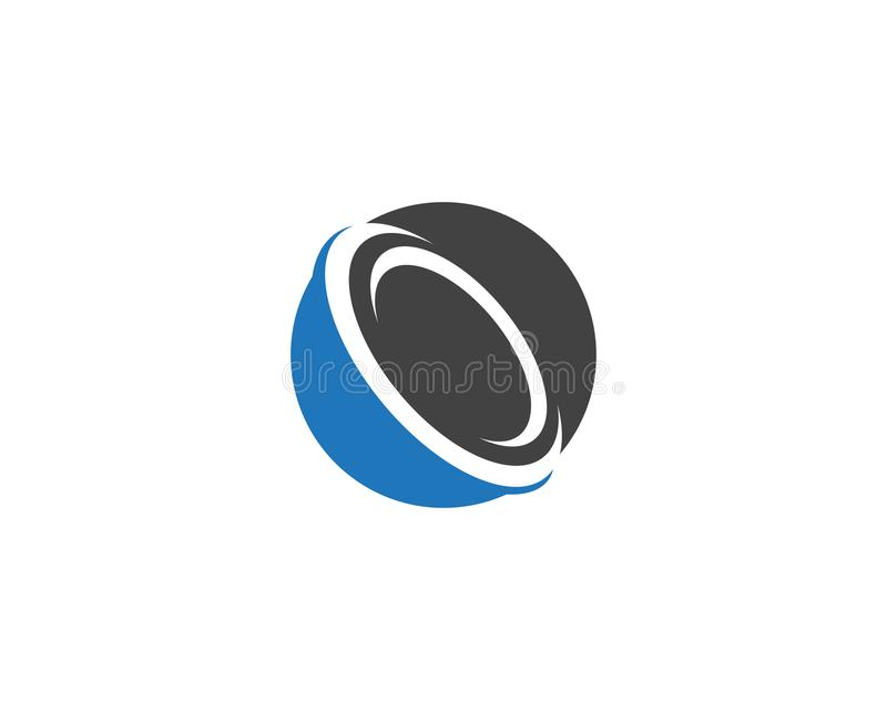logo et symboles de cercle illustration de vecteur