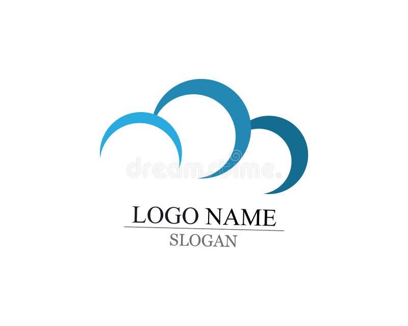 logo et symboles de nuage illustration de vecteur