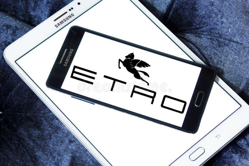 Etro fashion brand logo stock photos