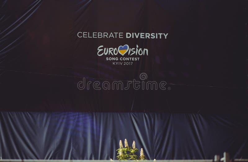 Logo of the Eurovision song contest 2017 Ukraine royalty free stock photos