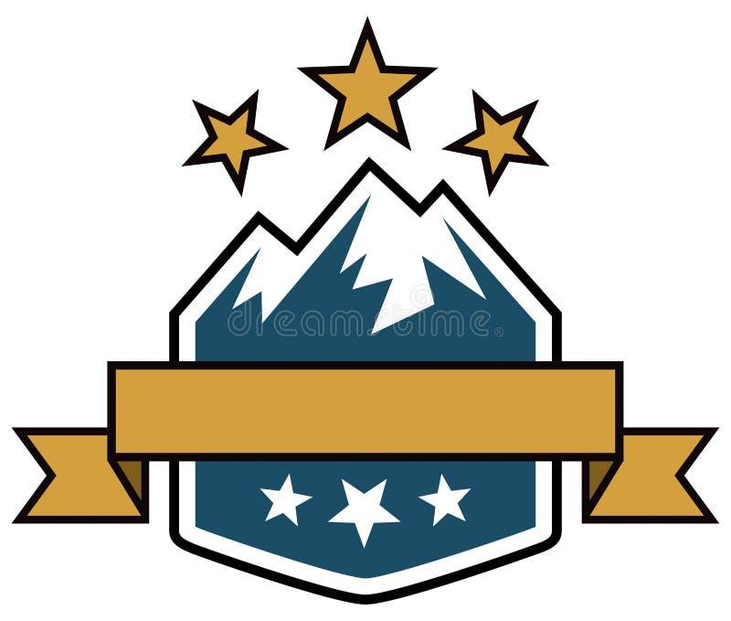 Logo extérieur d'aventure illustration stock