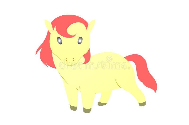 Logo fâché de cheval image stock