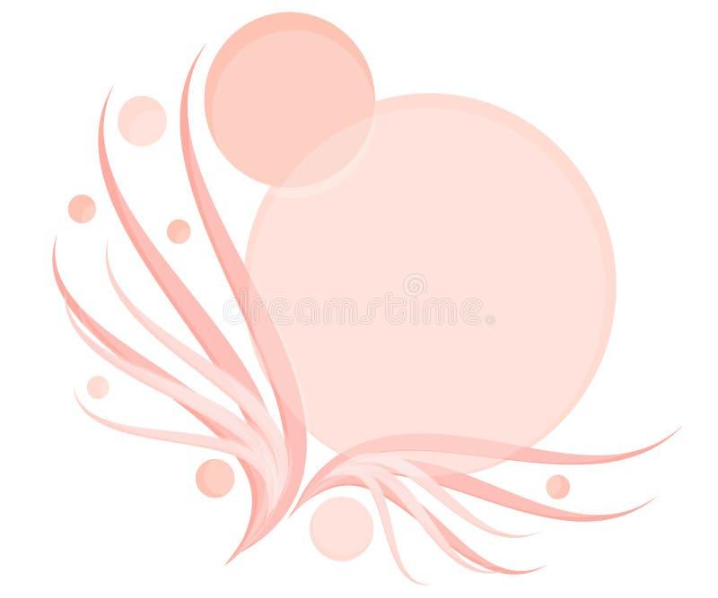 Logo féminin opaque rose 2 illustration stock