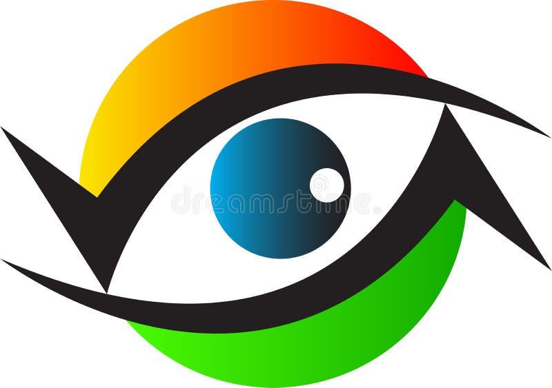 Logo för ögonomsorgklinik royaltyfri illustrationer