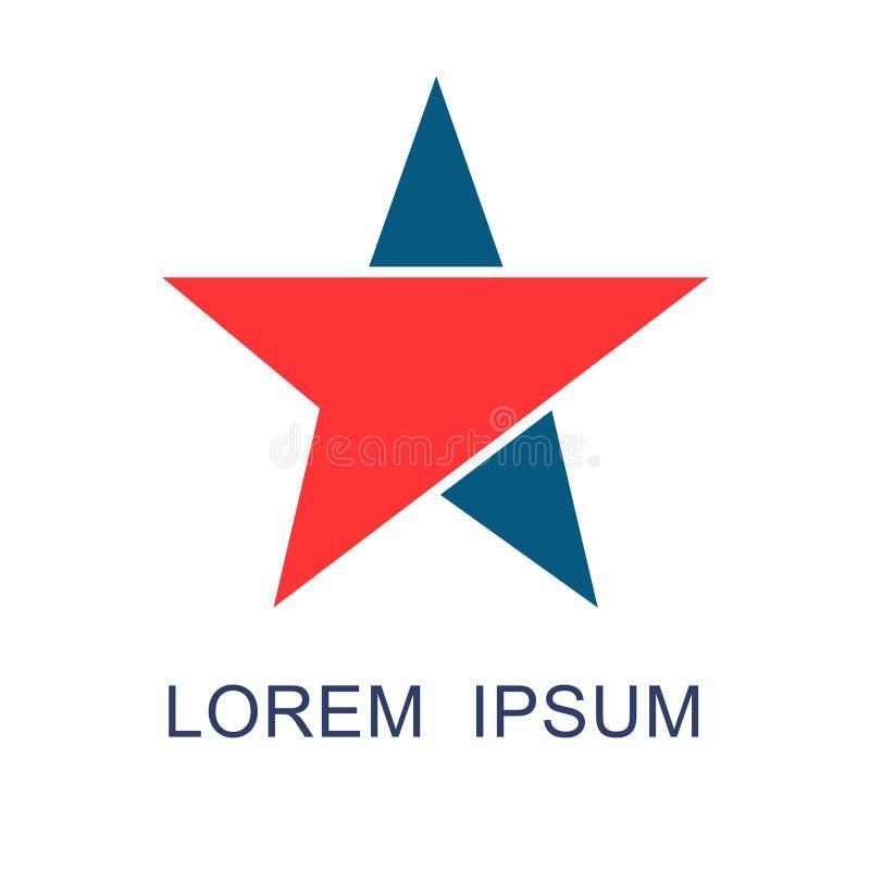 Logo för abstrakt begrepp för stjärnapilriktning royaltyfri illustrationer