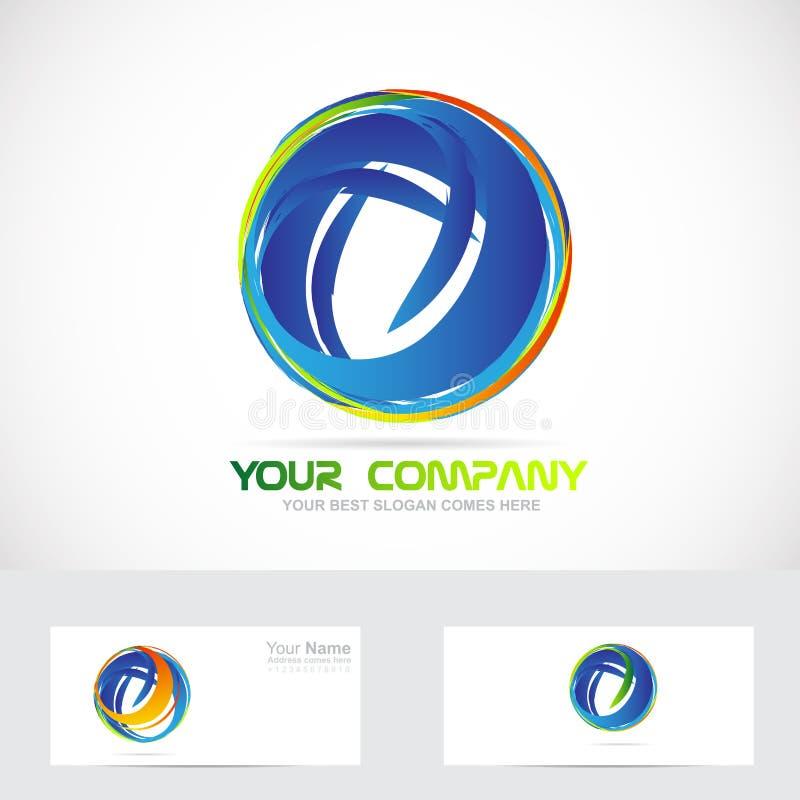 Logo för affär för cirkelsfärabstrakt begrepp royaltyfri illustrationer
