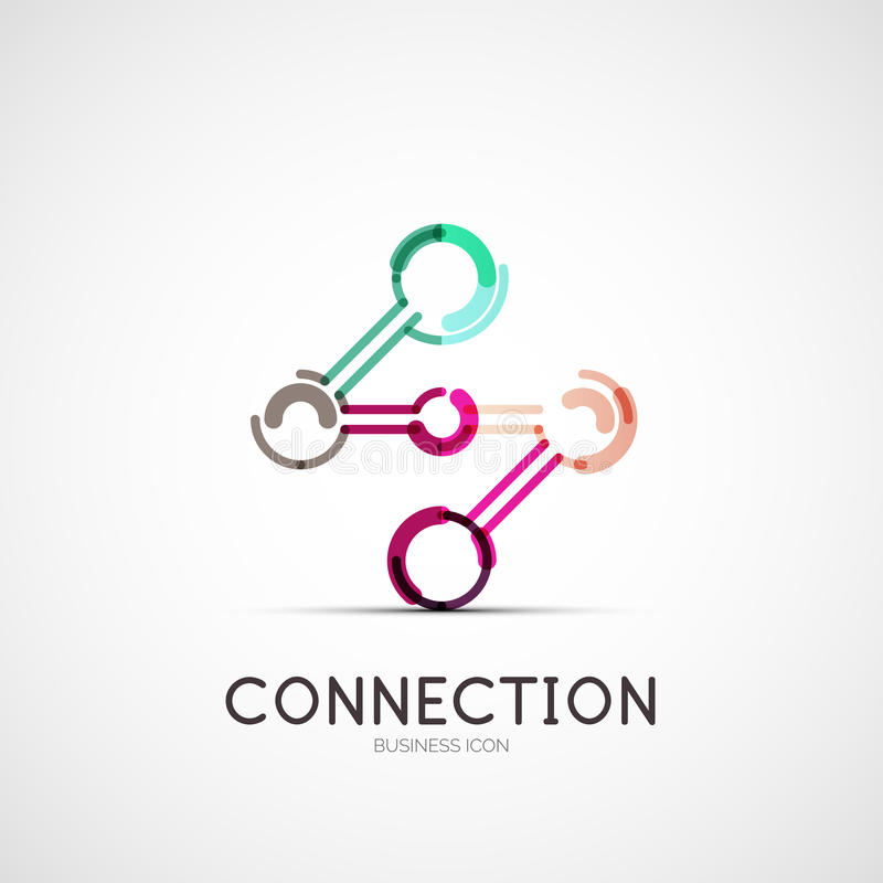 Logo för anslutningssymbolsföretag, affärsidé royaltyfri illustrationer