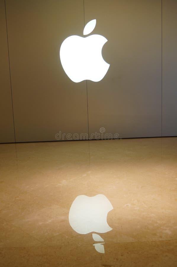 Logo för Apple mobiltelefonlager arkivfoto