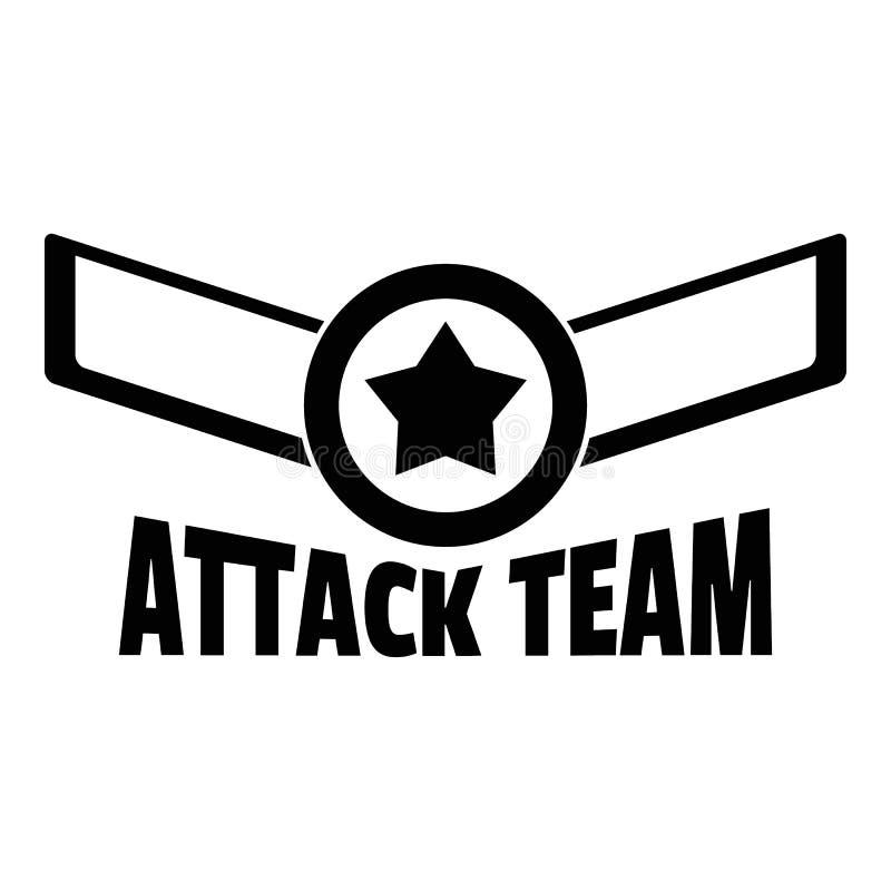 Logo för attackstjärnalag, enkel stil royaltyfri illustrationer