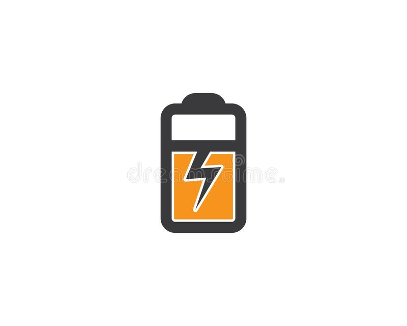 Logo för batteriuppladdare stock illustrationer