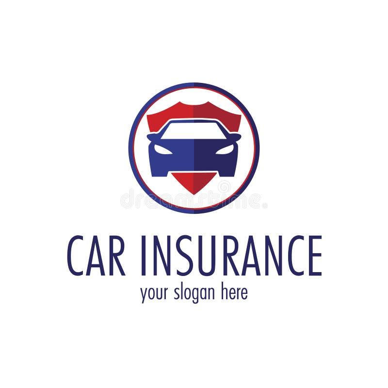 Logo för bilförsäkringbyrå Modifierbar vektormall fotografering för bildbyråer