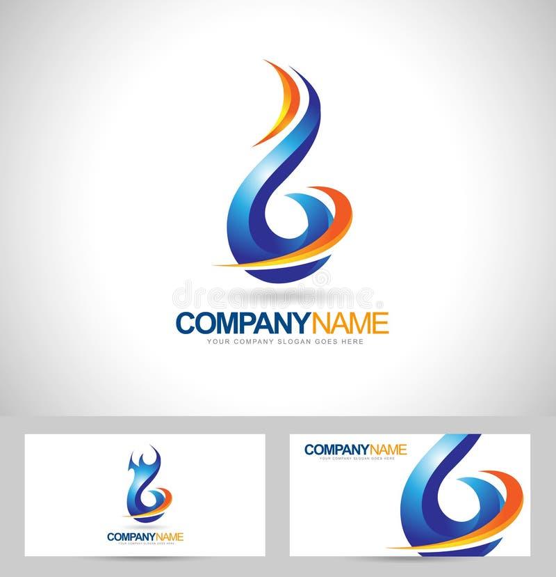 logo för blå flamma royaltyfri illustrationer