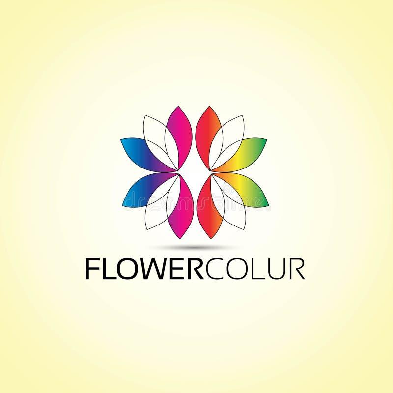 Logo för blommavektordesign vektor illustrationer