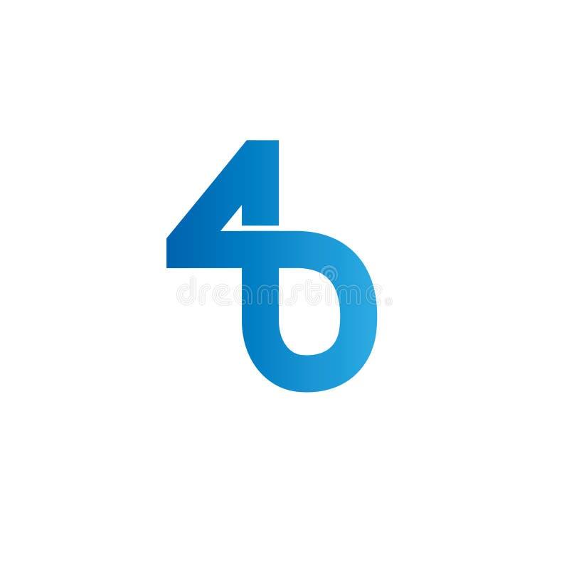 Logo för bokstäver B Designmallbeståndsdelar, abstrakt begrepp royaltyfria foton