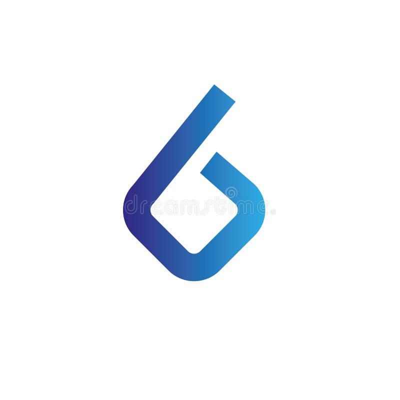 Logo för bokstäver B Designmallbeståndsdelar, abstrakt begrepp royaltyfri bild