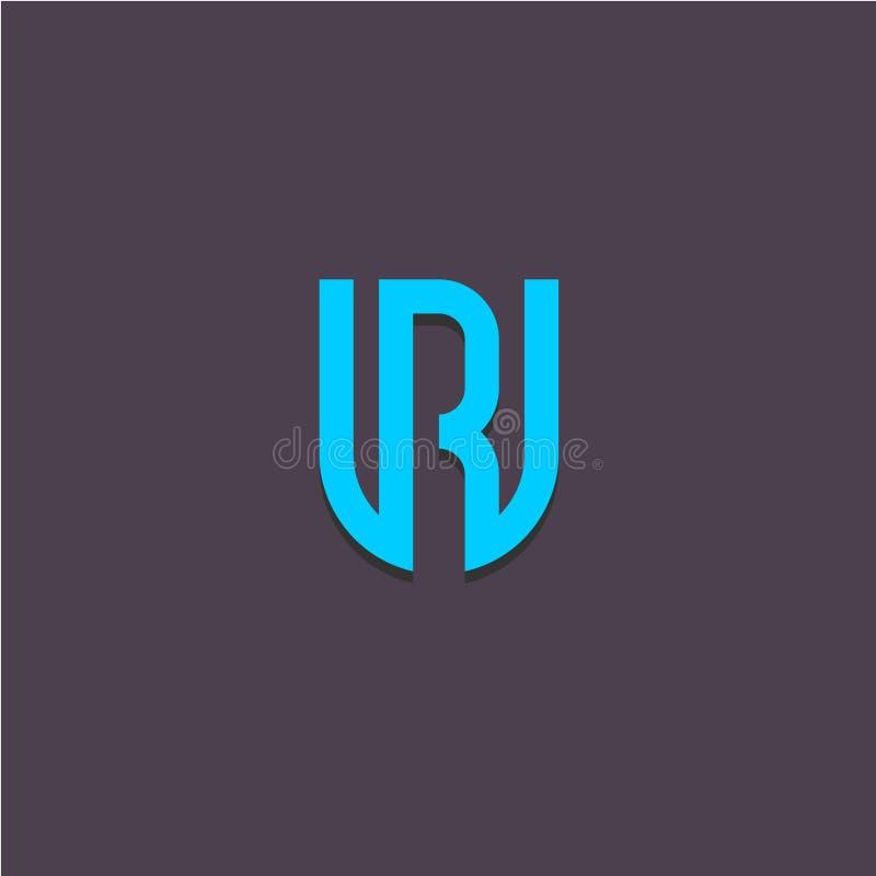 Logo för bokstäver U och r- vektor illustrationer