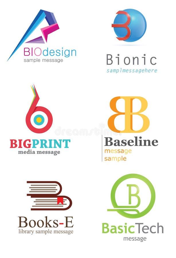 Logo för bokstav B vektor illustrationer
