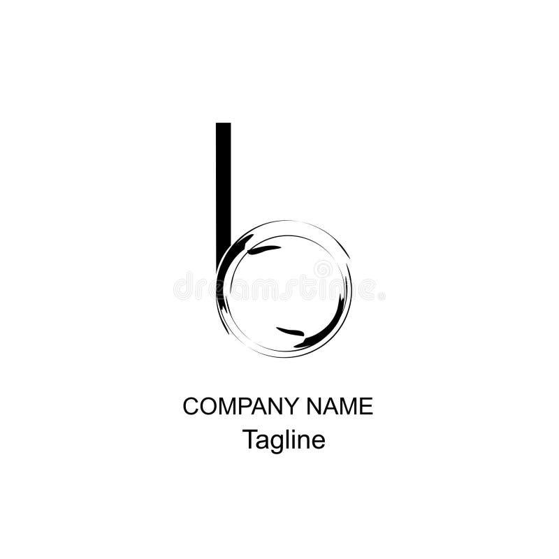 Logo för bokstav b av designen och geomatric arkivbilder
