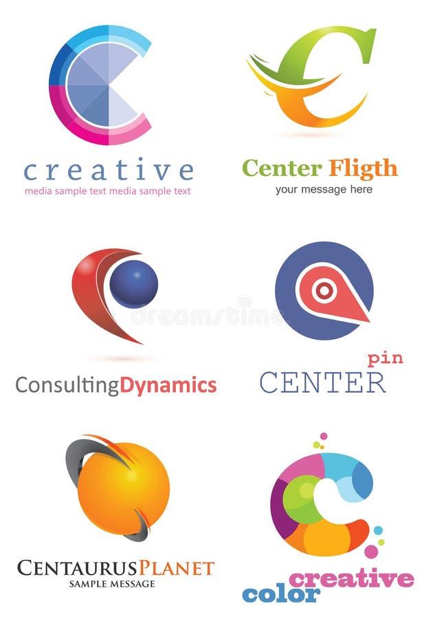 Logo för bokstav C vektor illustrationer