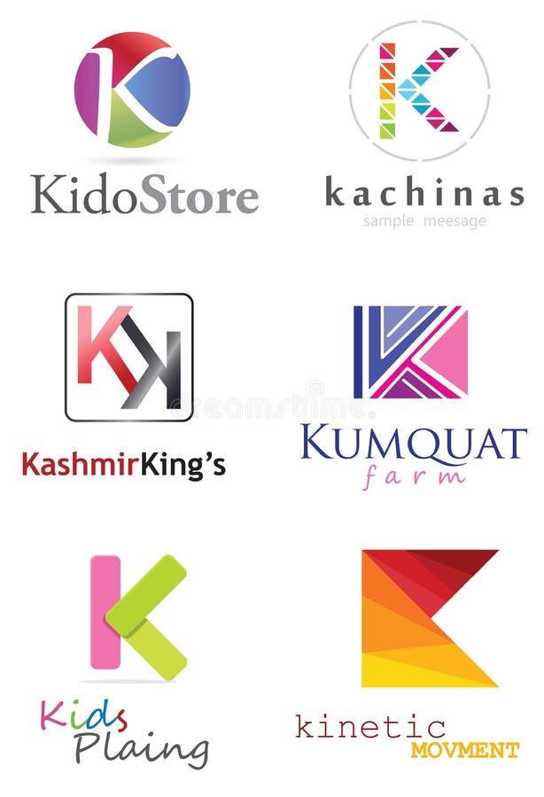 Logo för bokstav K royaltyfri illustrationer