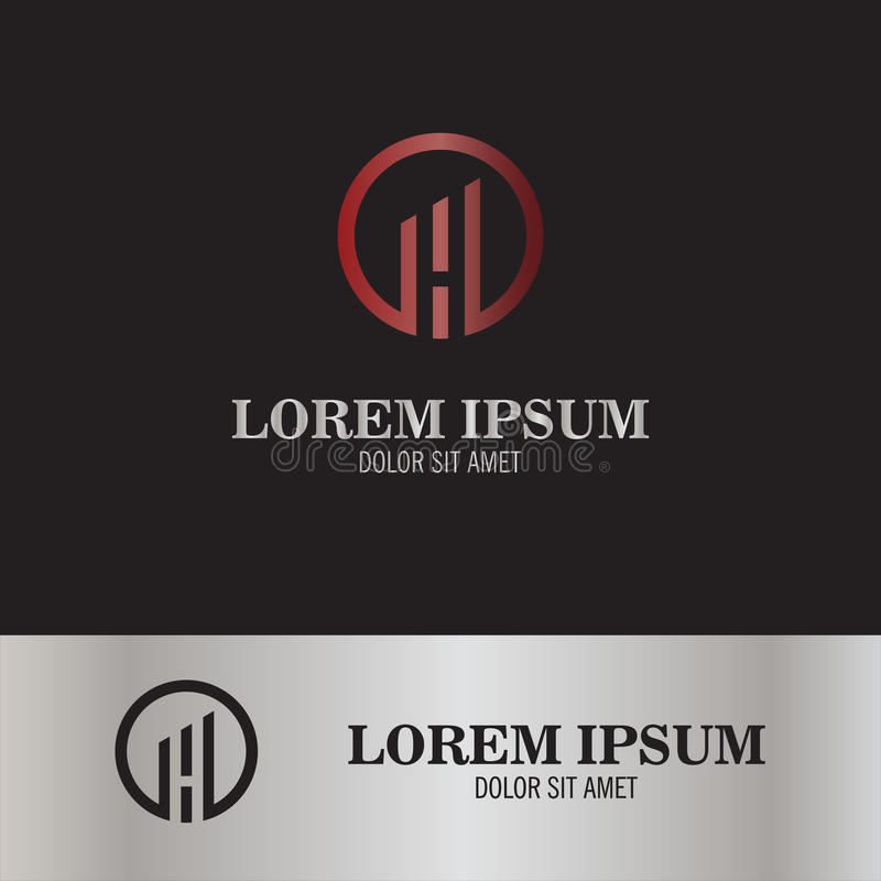 Logo för bokstavsH-cirkel royaltyfri illustrationer