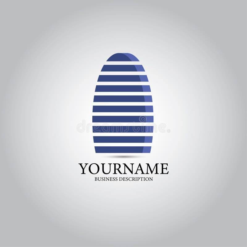 Logo för byggandetorngods stock illustrationer