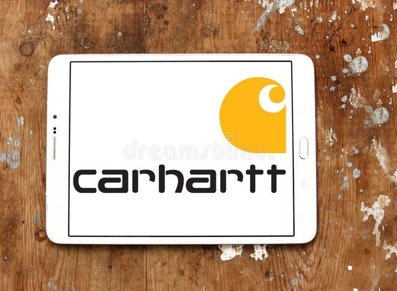 Logo för Carhartt dräktföretag royaltyfri foto