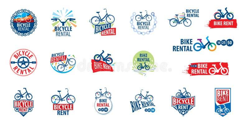 Logo för cykelhyra white f?r vektor f?r bakgrundsillustrationhaj vektor illustrationer